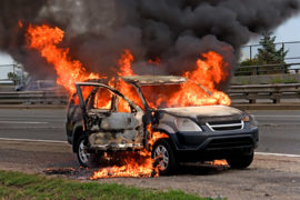 burning car, canada, toronto, gardiner exp, 2005