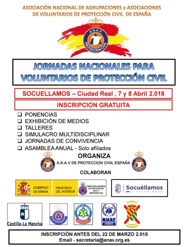 Cartel Jornadas Voluntarios Proteccion Civil